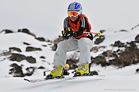 PERISHER VALLEY, AUSTRALIA, 12 September 2008 - Mia Low competing at the Australian Interschools Snowsports Championships held at Perisher Valley, NSW on 12 September 2008. Photo by Sydney Low / AsteriskImages.com