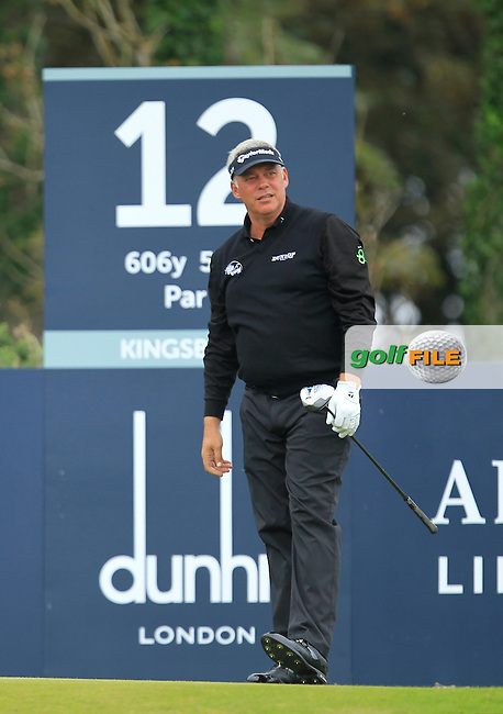 Darren Clarke (NIR) during Round 2 of the Alfred Dunhill Links Championship at Kingsbarns Golf Club on Friday 27th September 2013.<br /> Picture:  Thos Caffrey / www.golffile.ie