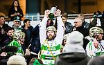 Stockholm 2015-03-14 Bandy SM-final herrar Sandvikens AIK - V&auml;ster&aring;s SK :  <br /> V&auml;ster&aring;s Anders Bruun med SM-pokalen efter matchen mellan Sandvikens AIK och V&auml;ster&aring;s SK <br /> (Foto: Kenta J&ouml;nsson) Nyckelord:  SM SM-final final Bandyfinal Bandyfinalen herr herrar VSK V&auml;ster&aring;s SAIK Sandviken jubel gl&auml;dje lycka glad happy