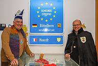 Büttelborn 03.03.2019: Rosensonntagsumzug<br /> Die Bürgermeister Andreas Rotzinger (Büttelborn, CDU) und Denis Riedinger (Hoerdt)<br /> Foto: Vollformat/Marc Schüler, Schäfergasse 5, 65428 R'eim, Fon 0151/11654988, Bankverbindung KSKGG BLZ. 50852553 , KTO. 16003352. Alle Honorare zzgl. 7% MwSt.
