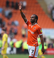 Blackpool's Nathan Delfouneso celebrates at the final whistle<br /> <br /> Photographer Stephen White/CameraSport<br /> <br /> The EFL Sky Bet League One - Blackpool v Fleetwood Town - Monday 22nd April 2019 - Bloomfield Road - Blackpool<br /> <br /> World Copyright © 2019 CameraSport. All rights reserved. 43 Linden Ave. Countesthorpe. Leicester. England. LE8 5PG - Tel: +44 (0) 116 277 4147 - admin@camerasport.com - www.camerasport.com<br /> <br /> Photographer Stephen White/CameraSport<br /> <br /> The EFL Sky Bet Championship - Preston North End v Ipswich Town - Friday 19th April 2019 - Deepdale Stadium - Preston<br /> <br /> World Copyright © 2019 CameraSport. All rights reserved. 43 Linden Ave. Countesthorpe. Leicester. England. LE8 5PG - Tel: +44 (0) 116 277 4147 - admin@camerasport.com - www.camerasport.com