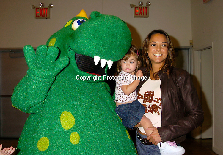 "Dragon, Eva La Rue and daughter Kaya Callahan ..at the 3rd Annual ""Children's Day Artrageous"" on April 25, 2004 benefitting Edwin Gould Services for Children and ..Families at The Metropolitan Pavilion in New York City...Photo by Robin Platzer, Twin Images"