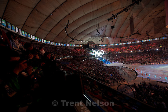 Trent Nelson  |  The Salt Lake Tribune.Opening Ceremony of the XXI Olympic Winter Games at BC Place in Vancouver, Friday, February 12, 2010.