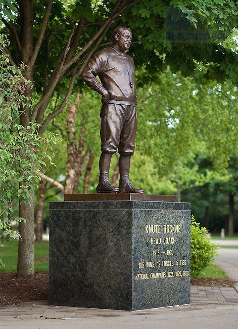 Jun. 13, 2011; Knute Rockne statue outside Notre Dame Stadium..Photo by Matt Cashore/University of Notre Dame