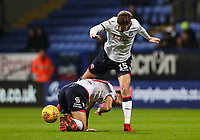 Bolton Wanderers' Luke Murphy leaps over team mate  Gary O'Neil<br /> <br /> Photographer Andrew Kearns/CameraSport<br /> <br /> The EFL Sky Bet Championship - Bolton Wanderers v West Bromwich Albion - Monday 21st January 2019 - University of Bolton Stadium - Bolton<br /> <br /> World Copyright © 2019 CameraSport. All rights reserved. 43 Linden Ave. Countesthorpe. Leicester. England. LE8 5PG - Tel: +44 (0) 116 277 4147 - admin@camerasport.com - www.camerasport.com