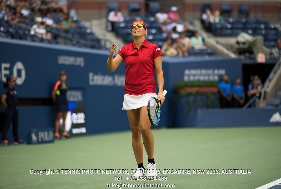 KIRSTEN FLIPKENS (BEL)<br /> <br /> TENNIS - THE US OPEN - FLUSHING MEADOWS - NEW YORK - ATP - WTA - ITF - GRAND SLAM - OPEN - NEW YORK - USA - 2016  <br /> <br /> <br /> <br /> &copy; TENNIS PHOTO NETWORK
