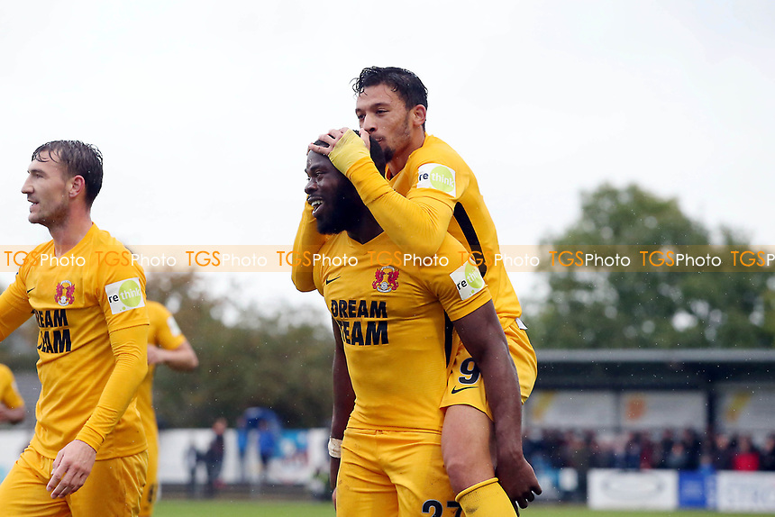O's James Alabi scores O's 2nd goal and celebrates with Macauley Bonne  during Maidenhead United vs Leyton Orient, Vanarama National League Football at York Road on 6th October 2018