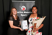 Junior Sportwoman of the Year Siositina Hakeai from the Counties Manukau Athletics Club. Counties Manukau Sport Sporting Excellence Awards held at the Telstra Clear Pacific Events Centre Manukau on December 1st 2011.