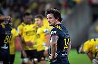 Richard Bucknell looks to his teammates after the Highlanders conceded a kickable penalty after the final hooter during the Super Rugby match between the Hurricanes and Highlanders at Westpac Stadium in Wellington, New Zealand on Friday, 1 March 2019. Photo: Dave Lintott / lintottphoto.co.nz