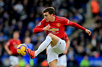 Victor Lindelof of Manchester United during the Premier League match between Leicester City and Manchester United at King Power Stadium on February 3rd 2019 in Leicester, England. (Photo by Leila Coker/phcimages.com)<br /> Foto PHC Images / Insidefoto <br /> ITALY ONLY