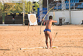 A Phillippino archer takes aim during the International Indigenous Games, in the city of Palmas, Tocantins State, Brazil. Photo © Sue Cunningham, pictures@scphotographic.com 31st October 2015