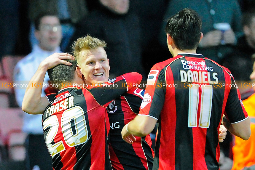 Matt Ritchie of AFC Bournemouth celebrates his goal - AFC Bournemouth vs Yeovil Town - Sky Bet Championship Football at the Goldsands Stadium, Bournemouth, Dorset - 26/12/13 - MANDATORY CREDIT: Denis Murphy/TGSPHOTO - Self billing applies where appropriate - 0845 094 6026 - contact@tgsphoto.co.uk - NO UNPAID USE