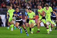 Kahn Fotuali'i of Bath Rugby breaks clear of the Sale Sharks defence. Aviva Premiership match, between Bath Rugby and Sale Sharks on October 7, 2016 at the Recreation Ground in Bath, England. Photo by: Patrick Khachfe / Onside Images
