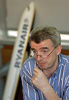 L'amministratore delegato di Ryanair Michael O'Leary durante una conferenza stampa a Roma, 17 febbraio 2009..Ryanair CEO Michael O'Leary looks on during a press conference in Rome, 17 february 2009..UPDATE IMAGES PRESS/Riccardo De Luca