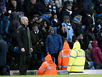Burnley manager Sean Dyche looks dejected after his side goes 4-0 down <br /> <br /> Photographer Rich Linley/CameraSport<br /> <br /> Emirates FA Cup Fourth Round - Manchester City v Burnley - Saturday 26th January 2019 - The Etihad - Manchester<br />  <br /> World Copyright © 2019 CameraSport. All rights reserved. 43 Linden Ave. Countesthorpe. Leicester. England. LE8 5PG - Tel: +44 (0) 116 277 4147 - admin@camerasport.com - www.camerasport.com