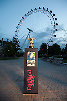 The London Eye is the backdrop for the launch of the Rugby World Cup England 2015- 15/09/2015 - London Eye - London <br /> Mandatory Credit: Rob Munro/Stewart Communications