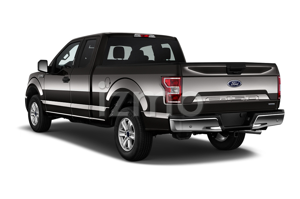 Car pictures of rear three quarter view of a 2018 Ford F-150 XLT SuperCab 6-1/2 Box 2 Door Pick Up angular rear