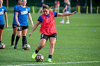 Kansas City, MO - Thursday August 10, 2017: Lo'eau Labonta during a regular season National Women's Soccer League (NWSL) match between FC Kansas City and the North Carolina Courage at Children's Mercy Victory Field.