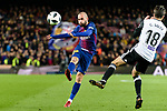 Aleix Vidal of FC Barcelona (L) fights for the ball with Carlos Soler Barragan of Valencia CF (R) during the Copa Del Rey 2017-18 match between FC Barcelona and Valencia CF at Camp Nou Stadium on 01 February 2018 in Barcelona, Spain. Photo by Vicens Gimenez / Power Sport Images