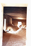 MAURITIUS, Tamarin, a storage room filled with piles of salt that is ready to be transported, Tamarin Salt Pans