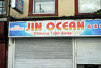 COPY BY TOM BEDFORD MEDIA<br /> Pictured: Jin Ocean, one of the take aways near the new house of Georgia Davis.<br /> Re: Britain's fattest woman has had a house specially built for her - within half a mile of 13 takeaway restaurants.<br /> Sixty-stone Georgia Davis, 22, was given the £150,000 property because she no longer fits in her own home.<br /> It has a double front door and all internal corridors and rooms have been specially designed to accommodate her size. <br /> Georgia is nicknamed the Takeaway Princess by friends because she lives on pizzas, kebabs and chips.<br /> But she has been rehomed in the middle of a glut of restaurants waiting to deliver her favourite food.