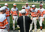 Waterloo head coach Mark Vogel talks to his team during the Class 3A Salem baseball sectional championship game at Salem HS in Salem, IL on Saturday June 1, 2019.<br /> Tim Vizer/Special to STLhighschoolsports.com