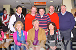 TRACK TIME: Enjoying a great at the Tarbert Comprehensive School Night at the Dogs at the Kingdom Greyhound Stadium on Saturday seated l-r:Helen O'Connell, Eddie Costello and Alex Quane. Back l-r: Stephen Linnane, Tom Dillon, Donal Dalton, John Dalton and Alex Quane, Ballybunion parents of Tarbert Comprehensive.
