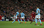 Alex Oxlade-Chamberlain of Liverpool scores the second goal during the Champions League Quarter Final 1st Leg, match at Anfield Stadium, Liverpool. Picture date: 4th April 2018. Picture credit should read: Simon Bellis/Sportimage