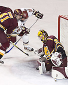 Andrew Winnik, Brock Bradford, Derek MacIntyre - The Boston College Eagles and Ferris State Bulldogs tied at 3 in the opening game of the Denver Cup on Friday, December 30, 2005, at Magness Arena in Denver, Colorado.  Boston College won the shootout to determine which team would advance to the Final.