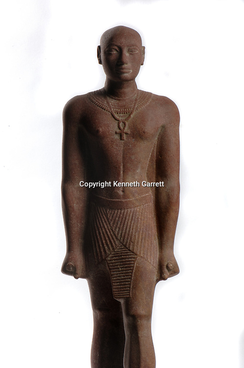 Horemakhet statue, son of Shabaqo,High Priest of Amun in Thebes, Egyptian clothes, Kushite facial expression, Black Pharaohs, Nubians, Egypt, Aswan, Nubian Museum