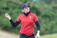 Amelia Garvey (NZL) on the 17th tee during the Matchplay Final of the Women's Amateur Championship at Royal County Down Golf Club in Newcastle Co. Down on Saturday 15th June 2019.<br /> Picture:  Thos Caffrey / www.golffile.ie