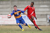 Joe Pearman in action for Romford - Romford vs Aveley - Pre-Season Friendly Match at Mill Field, Aveley FC - 31/07/10 - MANDATORY CREDIT: Gavin Ellis/TGSPHOTO - Self billing applies where appropriate - Tel: 0845 094 6026