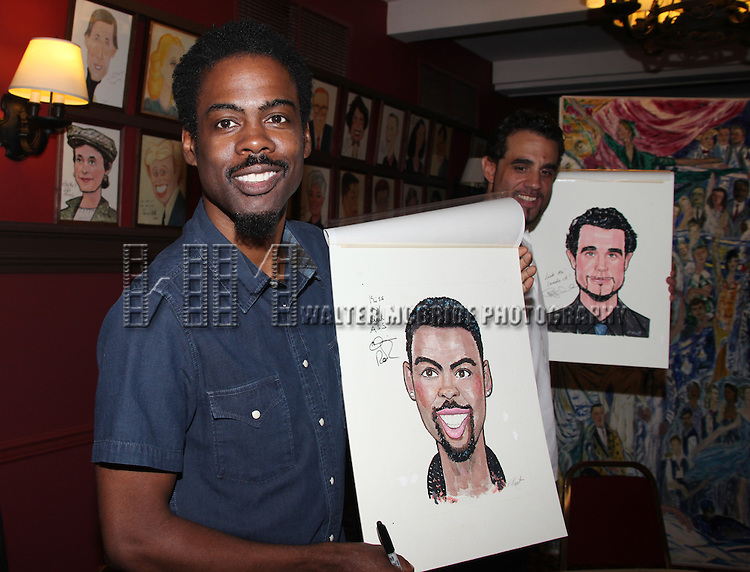 Chris Rock & Bobby Cannavale.attending the celebration as Sardi's honors all five cast members from the Broadway production of 'The Motherf**ker with the Hat'  in New York City
