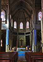 The inside of the Bariloche Cathedral.