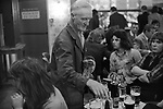 Bar staff clearing tables Saturday night at Byker & St.Peters Working Men's Social Club Newcastle upon Tyne, Tyne and Wear northern England 1973