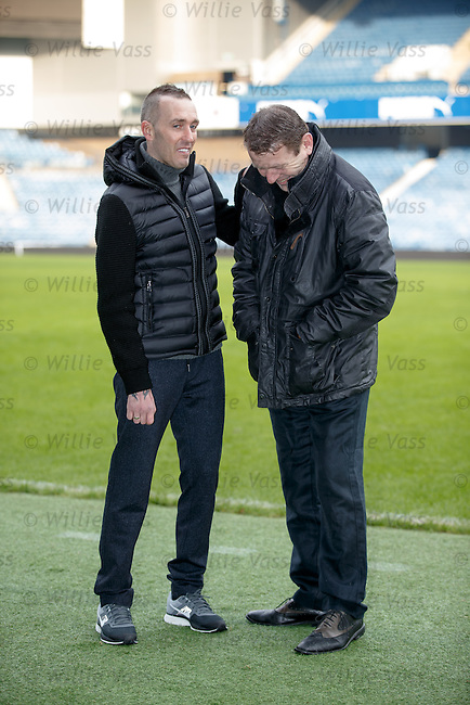 Fernando Ricksen with Andy Goram at Ibrox Stadium this morning