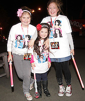 20/11/13<br /> Fans(L-R) Ciara Ingoldby(10), Lily Rose Sheridan (6) and Cautlin Openshaw (12) from Donaghmade pictured arriving to the Cheerios Childline Concert at the O2 Dublin this evening&hellip;.<br /> Pic Collins Photos
