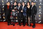 Team of Paquita Salas win the award at Feroz Awards 2017 in Madrid, Spain. January 23, 2017. (ALTERPHOTOS/BorjaB.Hojas)