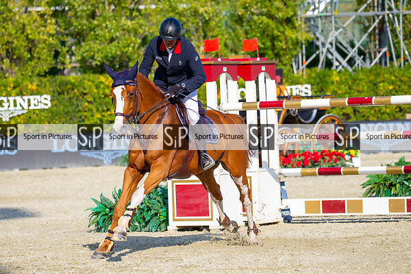 5th Place. Cedric Angot. FRA. Riding Talent des Moiters. Jump Off. Queen's Cup. Longines FEI Jumping Nations Cup Final. Showjumping. Barcelona. Spain. Day 2.06/10/2018. ~ MANDATORY Credit Elli Birch/Sportinpictures - NO UNAUTHORISED USE - 07837 394578