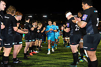 Ethan Waller of Worcester Warriors leads his team-mates off the field after the match. Premiership Rugby Cup match, between Saracens and Worcester Warriors on November 11, 2018 at Allianz Park in London, England. Photo by: Patrick Khachfe / JMP