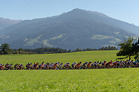 Picture by Richard Blaxall/SWpix.com - 28/09/2018 - Cycling 2018 Road Cycling World Championships Innsbruck-Tirol, Austria - Men's U23 Road Race - Peloton