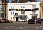 Historic building The Bear Hotel, Devizes, Wiltshire, England, UK,