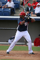 Washington Nationals Abraham Nunez during a Grapefruit League Spring Training game at Spacecoast Stadium on March 19, 2007 in Melbourne, Florida.  (Mike Janes/Four Seam Images)