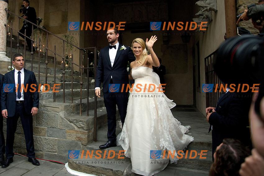 Tomaso Trussardi, Michelle Hunziker <br /> Bergamo 10/10/2014 - matrimonio Michelle Hunziker-Tomaso Trussardi <br /> Wedding Michelle Hunziker - Tomaso Trussardi <br /> foto Andrea Ninni/Image/Insidefoto<br /> nella foto: