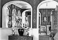 BNPS.co.uk (01202 558833)<br /> Pic: Harrods/BNPS<br /> <br /> Inside Charles Digby Harrod's Morebath Manor near Tiverton in Devon, where he lived after retiring from 1891 to 1901.<br /> <br /> Harrods was almost shut down in the 1830s long before it became a worldwide name because of its founder's criminal dealings, a new book has revealed.<br /> <br /> In The Jewel of Knightsbridge, The Origins of the Harrods Empire, author Robin Harrod discovered his great great grandfather, Harrods founder Charles Henry Harrod, was on the brink of being deported to Australia for handling stolen goods in 1836.<br /> <br /> He was only saved from his sentence of seven years transportation (deportation) by a petition on his behalf which vowed he would turn his back on crime.<br /> <br /> The Jewel of Knightsbridge: The Origins of The Harrods Empire by Robin Harrod, published by The History Press, costs &pound;20 and will be released on February 13.