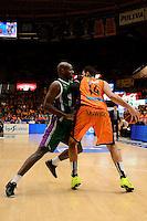 Dubljevic vs Green<br /> Liga Endesa ACB - 2014/15<br /> J8<br /> Valencia Basket vs Unicaja