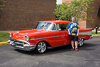 1957 Cruiser Class (#94C) – 1957 Chevrolet Bel Air 2-Door Hardtop registered to Tom Kraemer is pictured during 4th State Representative Chevy Show on Friday, July 1, 2016, in Fort Wayne, Indiana. (Photo by James Brosher)