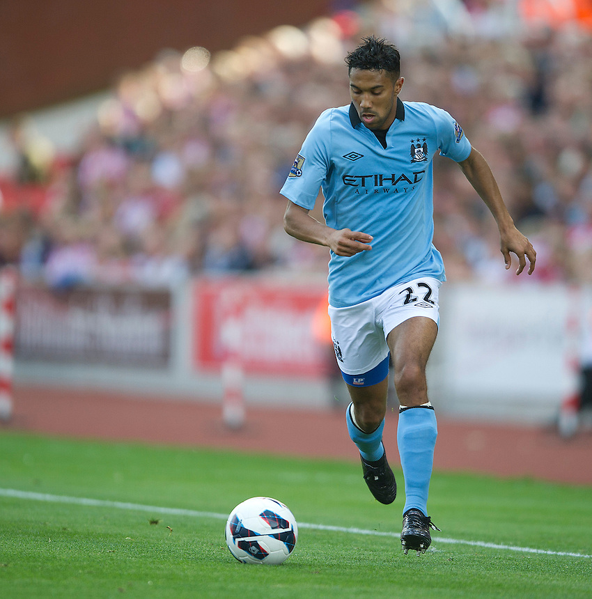Manchester City's Gael Clichy ..Football - Barclays Premiership - Stoke City v Manchester City - Saturday 15th September 2012 - Britannia Stadium - Stoke..