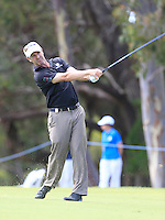 Anthony Summers (AUS) on the 18th during Round 1 of the ISPS HANDA Perth International at the Lake Karrinyup Country Club on Thursday 23rd October 2014.<br /> Picture:  Thos Caffrey / www.golffile.ie