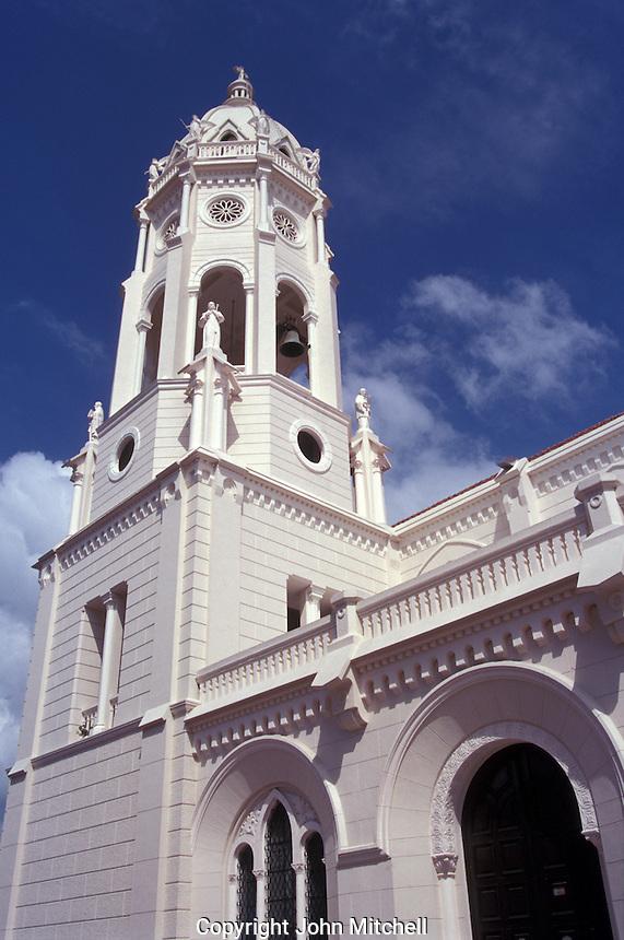 The restored Iiglesia de San Francisco in  Casco Viejo, the oldest neighbourhood in Panama City, Panama